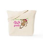 Cute 4th Grade Monkey Gift Tote Bag