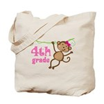 Cute 4th Grade Monkey Gift Tote Bag