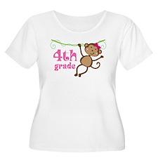 Cute 4th Grade Monkey Gift T-Shirt