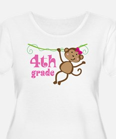 Cute 4th Grade Monkey Gift T-Shirt
