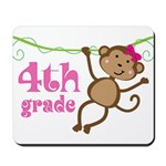 Cute 4th Grade Monkey Gift Mousepad