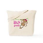 Cute 5th Grade Monkey Gift Tote Bag