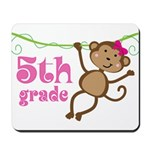 Cute 5th Grade Monkey Gift Mousepad