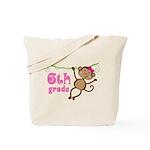Cute 6th Grade Monkey Gift Tote Bag