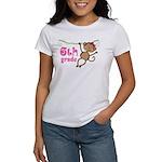 Cute 6th Grade Monkey Gift Women's T-Shirt