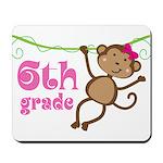 Cute 6th Grade Monkey Gift Mousepad