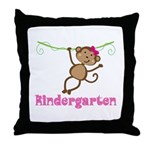 Cute Kindergarten Monkey Gift Throw Pillow