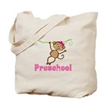 Cute Preschool Monkey Gift Tote Bag