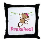 Cute Preschool Monkey Gift Throw Pillow