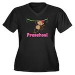 Cute Preschool Monkey Gift Women's Plus Size V-Nec