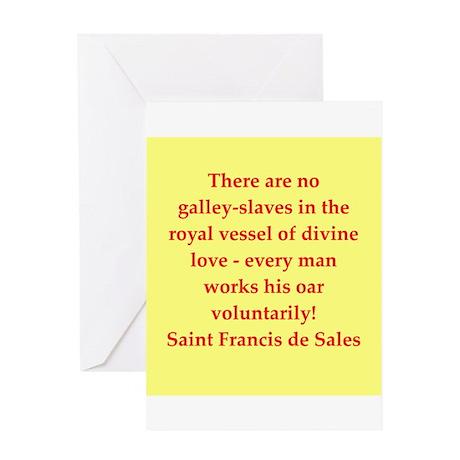 Saint Frances de Sales. Greeting Card