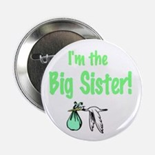 "Stork Baby Shower ""I'm the Big Sister"" Pin"