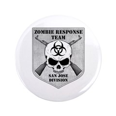 "Zombie Response Team: San Jose Division 3.5"" Butto"