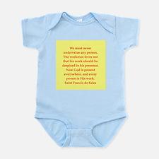 Saint Frances de Sales. Infant Bodysuit