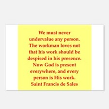 Saint Frances de Sales. Postcards (Package of 8)