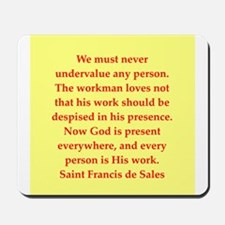 Saint Frances de Sales. Mousepad