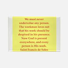 Saint Frances de Sales. Rectangle Magnet (10 pack)