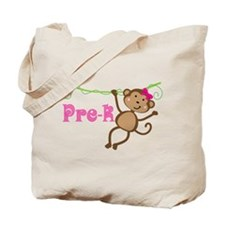 Cute Pre-K Monkey Gift Tote Bag