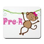 Cute Pre-K Monkey Gift Mousepad