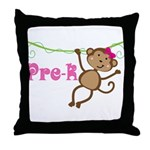 Cute Pre-K Monkey Gift Throw Pillow