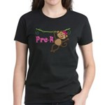 Cute Pre-K Monkey Gift Women's Dark T-Shirt