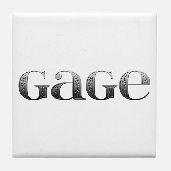 Gage Carved Metal Tile Coaster
