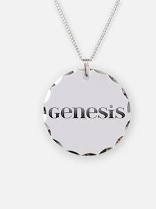 Genesis Carved Metal Necklace