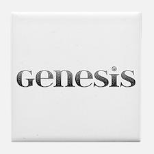 Genesis Carved Metal Tile Coaster