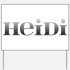 Heidi Carved Metal Yard Sign