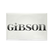 Gibson Carved Metal Rectangle Magnet