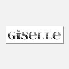 Giselle Carved Metal 10x3 Car Magnet