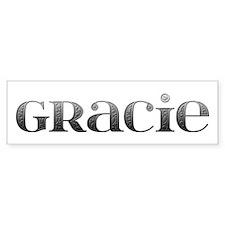 Gracie Carved Metal Bumper Bumper Sticker