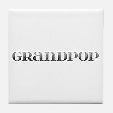 Grandpop Carved Metal Tile Coaster