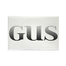 Gus Carved Metal Rectangle Magnet