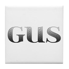 Gus Carved Metal Tile Coaster