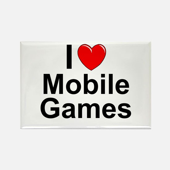 Mobile Games Rectangle Magnet