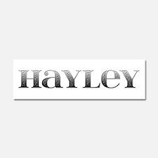 Hayley Carved Metal 10x3 Car Magnet