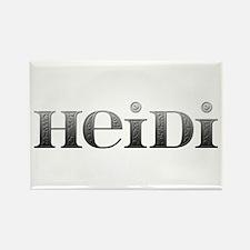 Heidi Carved Metal Rectangle Magnet