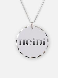 Heidi Carved Metal Necklace