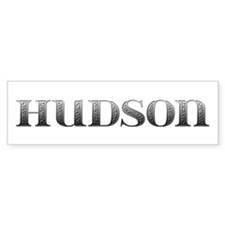 Hudson Carved Metal Bumper Bumper Sticker
