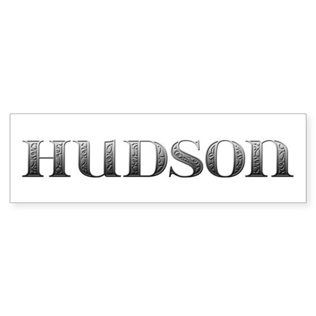 Hudson Carved Metal Bumper Sticker