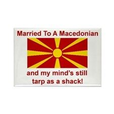 "Married To Macedonian Magnet (3""x2"")"