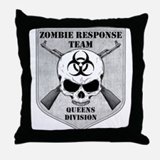 Zombie Response Team: Queens Division Throw Pillow