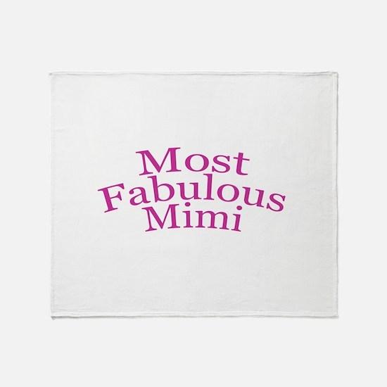Most Fabulous Mimi Throw Blanket