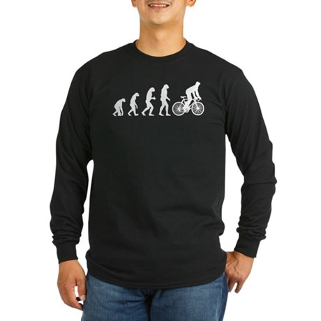 cycling evolution Long Sleeve Dark T-Shirt
