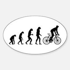 cycling evolution Sticker (Oval)