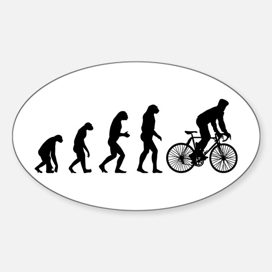cycling evolution Sticker (Oval)