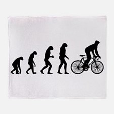 cycling evolution Throw Blanket