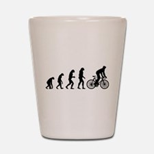 cycling evolution Shot Glass