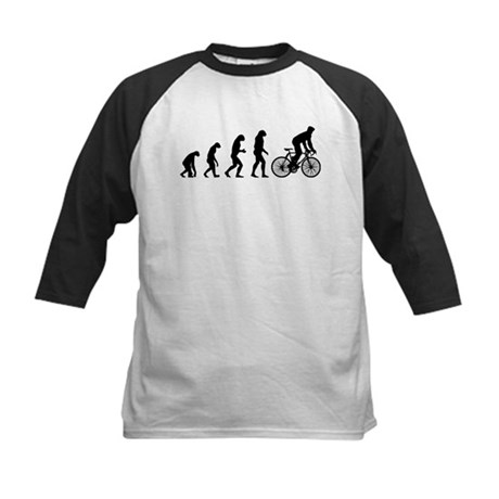 cycling evolution Kids Baseball Jersey